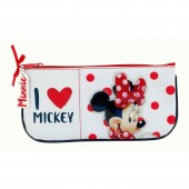 Estojo escolar plano Disney Minnie I Love Mickey