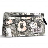 Estojo escolar plano premium Mickey - Oh Boy