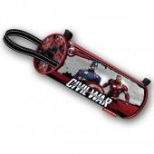 Estojo escolar redondo Marvel Capitão América Civil War Shield
