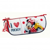 Estojo escolar triangular Disney Minnie I Love Mickey