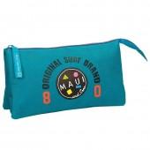 Estojo escolar triplo Azul turquesa Maui & Sons - Surf