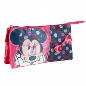 Estojo escolar triplo Disney Minnie Glasses