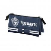 Estojo escolar triplo Harry Potter Ravenclaw