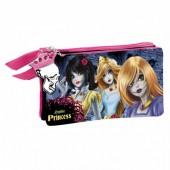 Estojo Escolar triplo Princesas Disney Zombie