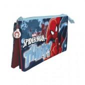 Estojo escolar triplo Spiderman Thwip