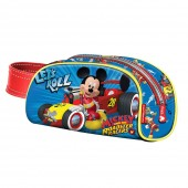 Estojo oval com pega Mickey Racers - Let`s Roll