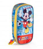 Estojo Oval Mickey Team Mickey