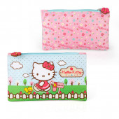 Estojo plano Hello Kitty garden