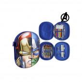Estojo Plumier  Azul Marinho 3D Avengers