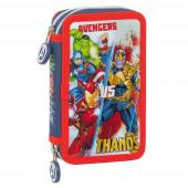 Estojo Plumier duplo 28 peças Avengers Heroes vs Thanos