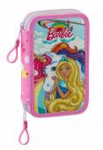 Estojo Plumier duplo 28 peças Barbie Dreamtopia