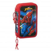 Estojo Plumier duplo 28 peças Spiderman Go Hero