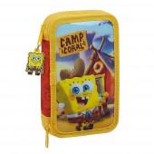 Estojo Plumier duplo 28 peças Sponge Bob Camp Coral