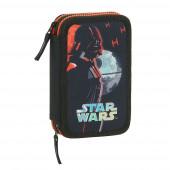 Estojo Plumier duplo 28 peças Star Wars The Dark Side