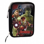 Estojo plumier duplo escolar Avengers Marvel Mighty