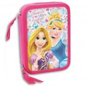 Estojo plumier duplo Princesas Disney