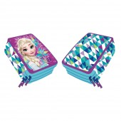 Estojo Plumier triplo Fozen Disney - Elsa On Ice