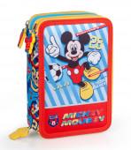 Estojo Plumier Triplo Mickey Team Mickey