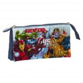 Estojo Triplo Avengers Heroes vs Thanos