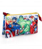 Estojo Triplo Avengers Marvel
