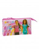 Estojo Triplo Barbie Dreamer