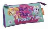 Estojo triplo com purpurina de Patrulha Pata - Girl Pup Power