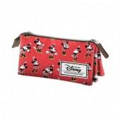 Estojo triplo Disney Minnie Premium Cheerful
