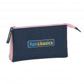 Estojo Triplo Fun & Basics Girl