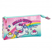 Estojo Triplo Hello Kitty Candy Unicorn