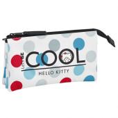 Estojo Triplo Hello Kitty Cool
