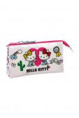 Estojo Triplo Hello Kitty Girl Gang