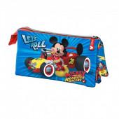 Estojo triplo Mickey Racers Let`s Roll