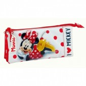 Estojo triplo Minnie Disney Love Mickey