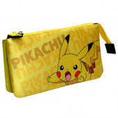 Estojo Triplo Pikachu Pokémon