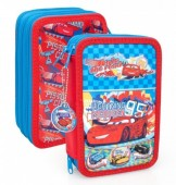 Estojo Triplo Plumier Cars Disney - Cars Team 95