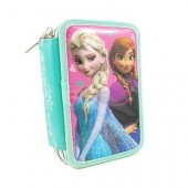 Estojo triplo plumier Elsa e Anna Frozen