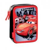 Estojo Triplo Plumier Premium Cars Disney - Fast