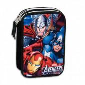 Estojo triplo Plumier Vingadores Avengers Marvel Twister