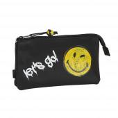 Estojo Triplo Smiley World Graffiti