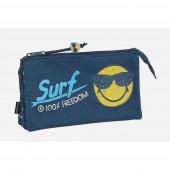 Estojo Triplo Smiley World Surf