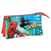 Estojo Triplo Spiderman City Protection