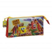 Estojo Triplo Sponge Bob Camp Coral