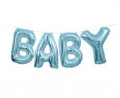 Faixa Banner De Balões Baby Azul