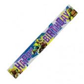 Faixa Banner Happy Birthday Tartarugas Ninja