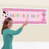 Faixa Gigante Personalizável Minnie 1ºAniversário