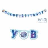 Faixa Happy Birthday Frozen 1,8m