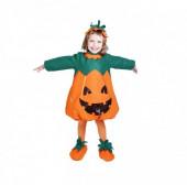 Fato Abóbora Menina 3-5 anos halloween