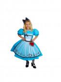 Fato Alice do Pais da maravilhas azul
