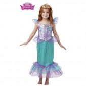 Fato Ariel Pequena Sereia Glitter Sparkle