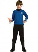 Fato azul do Spock Star Trek para menino